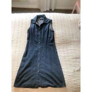 GAP denim button down dress.